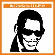 Ray Charles Wandtatoo, ca. 35 x 29 cm, Hochleistungsfolie m. Montagepapier