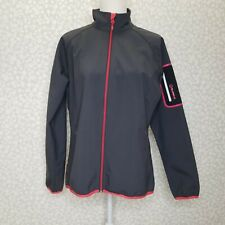 Women's Sunice Gray Full Zip Water Repellent Lightweight Jacket Size Large