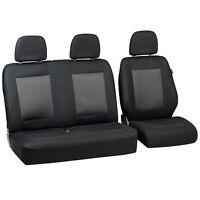 Schwarz-graue Dreiecke Sitzbezüge für MERCEDES SPRINTER  Autositzbezug SET 1+2