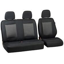 Schwarz-graue Dreiecke Sitzbezüge für CITROEN JUMPY Autositzbezug SET 1+2