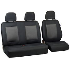 Schwarz-graue Dreiecke Sitzbezüge für FIAT DUCATO Autositzbezug SET 1+2