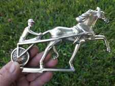 Vintage Car Mascot Hood Ornament Horse Bronze