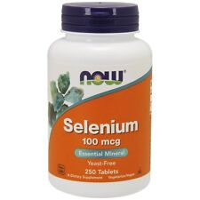Now Foods Selenium 100Mcg 250 Tablets Made in USA FREE SHIPPING