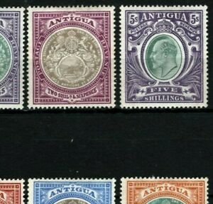 ANTIGUA KEVII Stamps SG.31-40 (1903-07) Set of 10 to 5s Mint MM Cat £325+ SS87