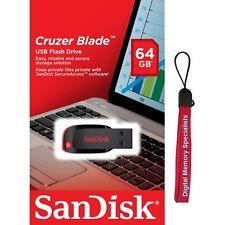 SanDisk 64GB Cruzer Blade USB 2.0 CZ50 64G USB FLASH DRIVE SDCZ50-064G +Lanyard