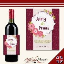 L139 Personalised Wedding Engagement Custom Wine Bottle Label Perfect Gift