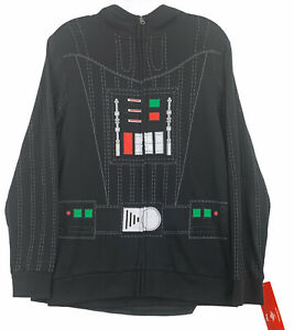 NEW Star Wars Sweater Youth Large Black  Long Sleeve Cape Hoodie Darth Vader