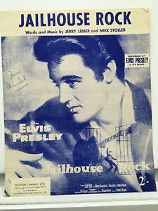 Rare Vintage Original 1958 UK #1 Sheet Music - Jailhouse Rock - Elvis Presley