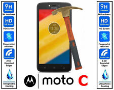 100% Real Premium HD Tempered Glass Screen Protector Guard for MOTO C