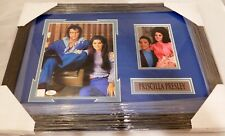 Priscilla Presley Signed / Autographed & Framed 8x10 Photo with Elvis JSA COA