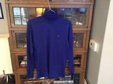 VTG NWT 90s Polo Ralph Lauren Pony Blue Long Sleeve Turtleneck Shirt SZ M -Cool