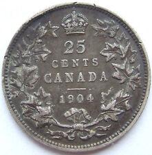 CANADA 25 CENTS 1904 in SEHR SCHÖN SEHR SELTEN !!!