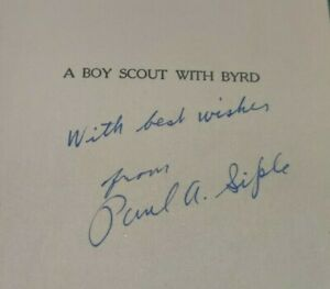 1931 A BOY SCOUT WITH (RICHARD) BYRD Paul Siple Signed 1st Edition Antarctic HC