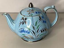 Sadler England Teapot Blue Lilly Bells 1604