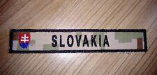 SLOVAK ARMY MILITARY STRIP FLAG DIGITAL DESERT CAMO VELCRO PATCH