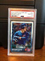 2015 Topps Sparkle Foil Anthony Rizzo Baseball Card #47 PSA 10 POP 1