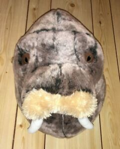 Pottery Barn Kids Walrus Head Jenni Kayne Plush Wall Safari Animal Plush