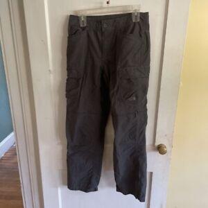 The North Face Mens Cargo Convertible Hiking Pants Gray Pockets 30 x 30