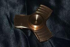 Gold Metallic Aluminum Fidget Spinner Metal Tri Fecta Kids Teens To Adults Toys
