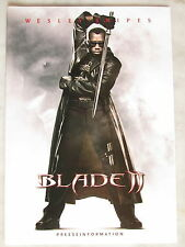 BLADE II - Presseheft - Wesley Snipes - HORROR