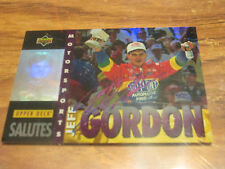 JEFF GORDON MOTORSPORTS SALUTES AUTOGRAPHED  CARD FROM UPPERDECK