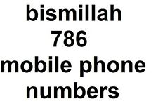 bismillah 786 mobile phone numbers