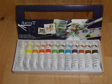 Peinture acrylique, 12 tubes de12 ml, marque ARTISTE.