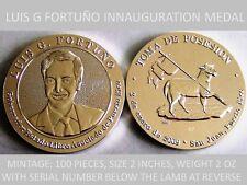 Inauguracion Gob. LUIS FORTUNO Puerto Rico 2oz Plata Silver 1/100 Enumeradas