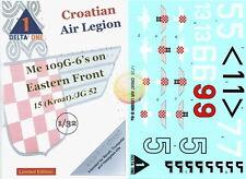 """1/32.Messerschmitt Me-109G Croatian Air Legion, decals by """"Delta One"""" DO32001"""