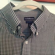 Craft & Barrow Short Sleeve Blue Button Down Size Large
