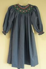 Brand New W/Tags Remember Nguyen Blue Long Sleeve Smocked Bishop Dress Size 6X