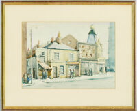 F.C.T. Bagurst - 20th Century Watercolour, Stratford Broadway Street Scene