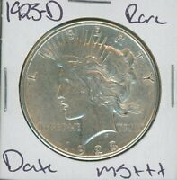 1923-D Peace Dollar Rare Date Uncirculated US Mint Coin Silver Coin Unc MS+++