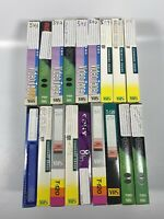 Lot Of 18 Pre-Recorded Mix Label T-120  VHS Tapes Sold As Used Blanks T4