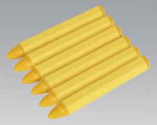 Sealey tst14 crayon MARQUAGE PNEUMATIQUE-Lot de 6 jaune