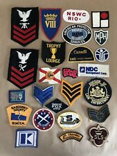 Lot Of 25 Vintage Embroidered Patches Badge Collection Schools Flags Military