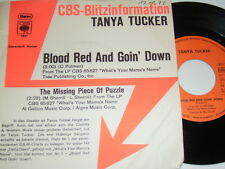 """7"""" - Tanya Tucker Blood Red and goin down - Promo 1973 # 0690"""