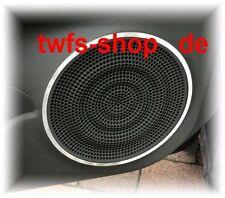 D Nissan Cube Z12 Chrom Ringe für Türlautsprecher - Edelstahl poliert 2 Ringe
