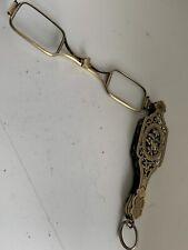 Antique 19c French Silver Gilt Lorgnette Optician Prescription Spectacle Frames