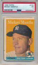 1958 TOPPS MICKEY MANTLE #150 PSA 1 HOF YANKEES