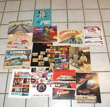 14 different Original Lionel train catalogs 50's 60's 70's Near Mint