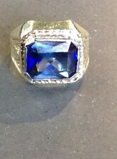 Vintage 14k Synthetic Sapphire Ring