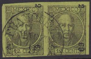 dc30 Mexico #59 12ctv Veracruz 2-69 Sz 1757A Pair est $5+ Nice Example
