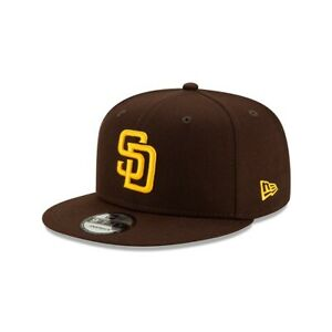 2021 San Diego Padres New Era 9FIFTY MLB Snapback Hat Cap Flat Brim Brown 950