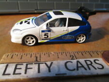JOHNNY LIGHTNING White&Blue FORD FOCUS RALLY Car Scale 1/64
