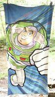 """Disney Store Toy Story Buzz Lightyear 30"""" x 60"""" 100% Cotton Beach Towel"""