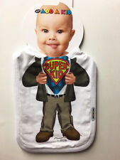NEW Baby Add a Kid Toddler Boy's Oversize SUPER KID Superman BIB Made in USA
