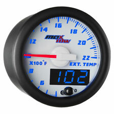 MaxTow 52mm White & Blue Double Vision 2200 F Exhaust Gas Temp Gauge - MT-WBDV08