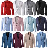 Men's Blazer Jacket Casual Formal Corduroy Cotton Blend Slim Fit Coat  Size M-6X