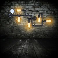Industrial  Style Water Pipe Wall Sconce Lamp Vintage Steampunk Metal Wall Light